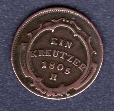 """1 Kreuzer Kaiserreich Österreich  1805 H    """" in Sehr Schön """" Selten"""