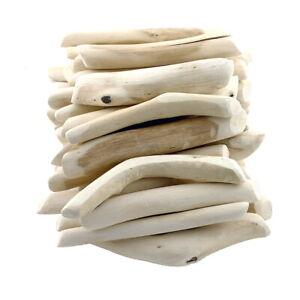 """Treibholz rund """"Tumblet wood"""", natur gebürstet, L12-15cm, 1kg Beutel"""