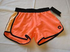 Hurley girls M board shorts swim active short 481013 N45 Brt Mango surf gym *^