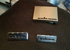 Volcom Belt Buckle and 2 End Tips