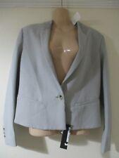 NEW! 8 10 12 HELMUT LANG light grey wool blazer jacket button designer oversized