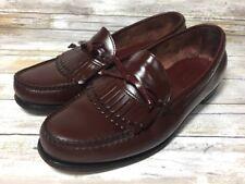 Dexter Men's Kiltie Loafer Shoes Slip On Burgundy Comfort Classics Size 10 WW
