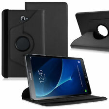 BLACK- 360 Rotating Case Stand Cover For Samsung Galaxy Tab A 10.1 SM-T580 /T585