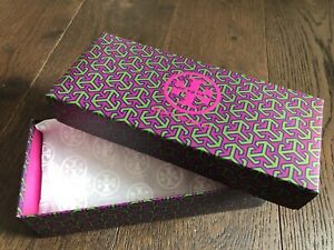 Tory Burch Shoe Box Gift Box w/ Matching Lid w/ White Tissue Empty Narrow Box