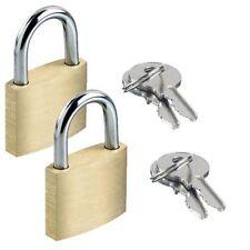 2x Messing Vorhängeschloss Sicherheit Schließfach Schloss 2 Schlüssel 20mm,25mm