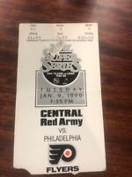 1990  USSR CENTRAL RED ARMY @ PHILADELPHIA FLYERS TICKET STUB  NHL SUPER SERIES