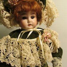 Antique Gebruder Heubach 12 inch Leather Body Doll #1902-13 Mold Horseshoe Mark