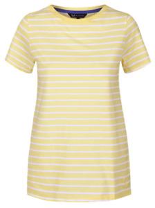 NEW CREW CLOTHING Lemon Cotton Striped Top - Sizes 8 to 16 - RRP £22