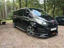 To Fit 2013 - 2018 Ford Transit Tourneo Custom LWB Running Boards Steps Black