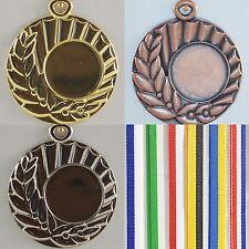Pokale Band Sport Medaille Turnier Medaillen 100 Bänder breit grün-weiß für Medaillen
