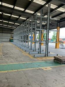 5 Uprights of Used Outdoor Cantilever Racking 5000mm tall x 1200mm x 1000kg arms