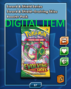 50x Evolving Skies Booster Pack Codes Pokémon TCG Online, (ptcgo, sent in game)