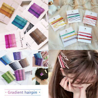 Gradient Candy Color Glitter Hair Clip Bobby Pins Cute Wavy Hairpins Accessories