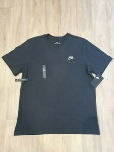Men's Nike Standard Fit T Shirt Tee Crew Neck Large - Black
