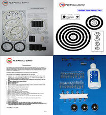 1992 Data East Hook Pinball Tune-up Kit - Includes Rubber Ring Kit