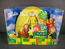 NIB BARBIE DOLL 2001 LETS CAMP W/BARBIE STACIE KELLY TOY R US EDITION