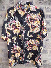 Vintage ukelele guitar print hawaiian shirt by Bruno rockabilly hotrod festival