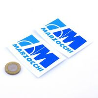 MARZOCCHI Motorcycle STICKERS Fork & Shock Decals Vinyl 75mm x2 Blue