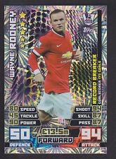 Match Attax 2014/2015 - Record Breaker - 424 Wayne Rooney - Manchester United