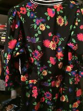 ASOS Neon And Black Flowered Dress, Size 8