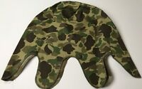 WWII US USMC MARINE P42 HBT FROG SKIN CAMO HELMET COVER-1ST PATTERN