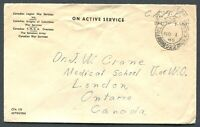 CANADA WWII MILITARY COVER F.P.O. CANCEL