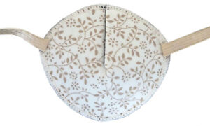 Beige Leaves - Medical Adult Eye Patch Soft Washable sold to NHS
