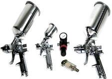 HVLP AIR SPRAY PAINT GUN 0.8 1.4 & 1.7 MM + AIR REGULATOR + WATER SEPARATOR 5PC