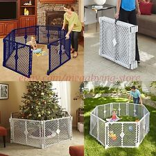 """Baby Play Yard Safety Gate 26"""" Fence Child Toddler Portable IndoorOutdoor 6Panel"""
