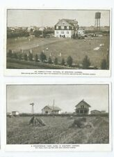 Postcards Western Canada Arable Farm Agricultural School Baseball Game Diamond