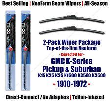2-Pack NeoForm Wipers fit 1970-1972 GMC K15 K25 K35 K1500 K2500 K3500 - 16140x2