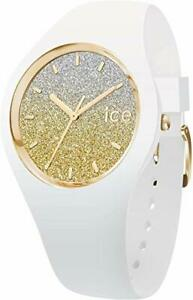 Armbanduhr Ice Watch 013428 Damen Analog Quarz Uhr Silikon Mineral 10 ATM weiß