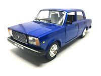 VAZ 2107 Blue, Lada 1500 Niva, Lada Nova, Lada Kalinka USSR 1982 Year 1/24 Scale
