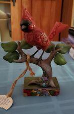 "Jim Shore Cardinal Figurine ""Cardinal Rule"" (Heartwood Creek Collection)"