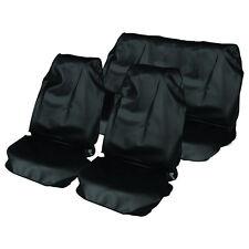 Negro ajuste Universal Asiento de coche Cover Set-Resistente Al Agua delantero y trasero cubre Nuevo