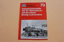 P998 rare dépliant TRAIN ho MARKLIN 1979 HAMO allemand tan 07 79