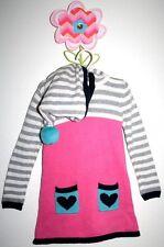 BABY GAP Northern Brights Gorgeous Hoodie Sweater Dress Heart Pom Pom Size 2