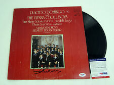 Placido Domingo Signed Autograph Vienna Choir Vinyl Record Album PSA/DNA COA