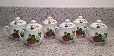 APILCO France B.I.A. Porcelain Strawberries POTS DE CREME Set Of 6