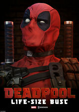 Sideshow Collectibles DEADPOOL LIFE-SIZED BUST Marvel 2017 Merc Mouth AWESOME