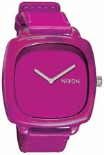 "NWOT Nixon A167645-00 Women's ""The Shutter""  Shocking Pink Marbled Case Watch"