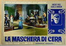 FOTOBUSTA, LA MASCHERA DI CERA (HOUSE OF WAX) VINCENT PRICE, DE TOTH, HORROR
