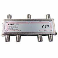 Eurosell Antennenverteiler 6fach 6 TV SAT Splitter Digital BK Weiche DVBC DVBT