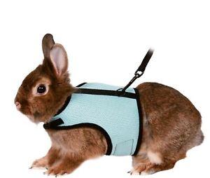 61513 Trixie Rabbit Soft Mesh Walking Harness & Lead Set BLUE