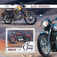 Guinée 2016 neuf sans charnière motos harley davidson sportster 1v s/s motoring timbres