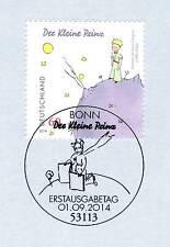 BRD 2014: Der kleine Prinz Nr. 3102 mit dem Bonner Ersttags-Sonderstempel! 1A
