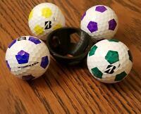 Golf Ball Marker - Pentagon Soccer Ball Stencil with Circle and alignment Line