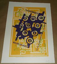 Stereolab Mouse On Mars Showbox Seattle concert poster Art Chantry