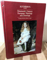 RARE 1984 June 19th Sotheby's Auction Catalog: Nineteenth Century European Art