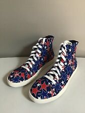 Loudmouth Stuart Star Studded Men's Size 13M High Top Canvas Sneaker Shoes NWOB